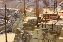 "Caleb Stone, ""Stone Age"", oil, $4,200"