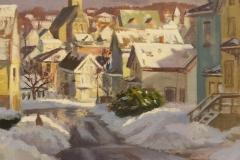"Caleb Stone, ""Winter Light"", oil, $2,000"