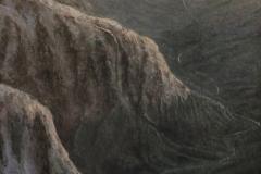 "Len Swec, ""Mountain Monastery"", acrylic, $4,500"