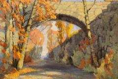 "Susan Termyn, ""Arched Bridge, Rockport"", oil, $3,200"