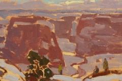 "John C. Traynor, ""Apache Country"", oil, $4,500"