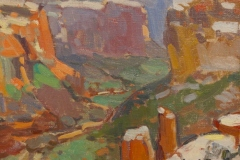 """John C. Traynor, """"Spider Rock View"""", oil, $4,500"""