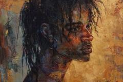 "Christopher Zhang, ""Golden Age"", oil, $4,900"