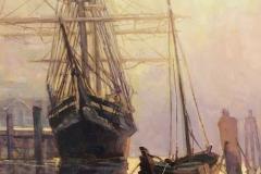 "Christopher Zhang, ""Seaport"", oil, $4,900"