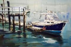 "Ralph Acosta, ""Cold Spring Harbor, L.I."", watercolor, 14x22, $1,950"