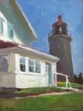 "Rick Daskam, ""Monhegan Museum and Lighthouse"", oil, 12x9, $950"