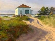 """Susan Jositas, """"The Hatchery"""", oil, 9x12, $1,400"""