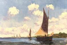 """Howard Park, """"Heading In"""", oil, 16x24, $2,000"""