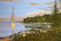 "Jeffrey Sabol, ""Pleasant Cove"", acrylic, 18x24, $2,800"
