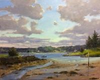 """Thomas Adkins, """"Parting Clouds, Pemaquid Beach"""", oil, 24x30, $5,400"""