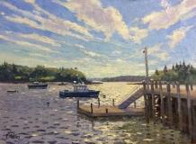 "Thomas Adkins, ""Windy Harbor"", oil, 9x12, $950"