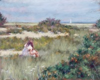 "Joann Ballinger, ""Gathering"", pastel, 9x12, $1,500"