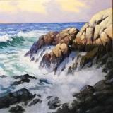 """Harley Bartlett, """"The Churning Sea"""", oil, 26x26, $10,000"""