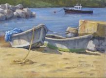 "Jack Broderick, ""Swim Beach"", oil, 12x16, $800"