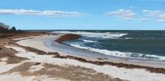 "William Burnham, ""A Churned Sea"", acrylic, 15x27, $1,400"