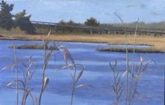 """Diane Chandler, """"Meigs Point Bridge"""", oil, 8x11, $200"""