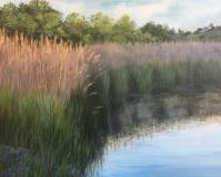 "Judith Chapman, ""Morning Fog on the Duck River"", oil, 16x20, $1,200"