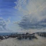 """Linda Boisvert-DeStefanis, """"Silver Lining II"""", oil, 30x30, $3,400"""