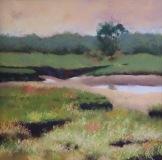 "Carol Frieswick, ""Evening Marsh at Low Tide"", pastel, 12x12, $275"