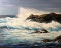 "Rose-Mary Gates, ""Breaking Dawn"", oil , 16x20, $800"