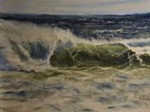 "Dorothy Gibb, ""Windy Storm Squall"", pastel, 9x12, $425"