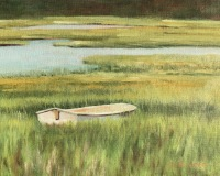 """Donna Gilberto, """"Lost on the Marsh"""", oil, 9x12, $750"""