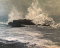 """Laureen Hylka, """"Bass Rocks, Whale Rock"""", oil, 16x20, $2,800"""