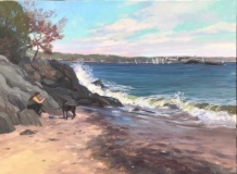 "Jackie Jones, ""Afternoon at McCooks"", oil, 18x24, $3,500"