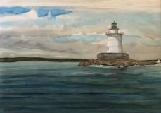 """Pat Kelbaugh, """"Clearing Skies"""", watercolor, 8x11, $350"""