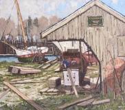 "Jim Laurino, ""Ship Makers Yard"", oil, 14x16, $1,400"