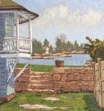 "Jim Laurino, ""Side yard Camp Hill"", oil, 11x12, $800"