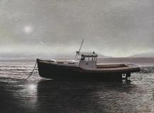 "Stephen Linde, ""A Gloucester Low Tide"", pastel, 12x16, $1,200"
