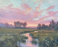 """Barbara Lussier, """"Vapor"""", oil, 24x30, $6,400"""