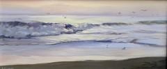 """James Magner, """"Dinner Time"""", oil, 7x16, $1,750"""