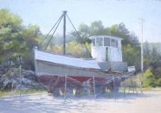 "Jane McGraw, ""The Ida Mae's Last Voyage"", pastel, 14x20, $1,000"
