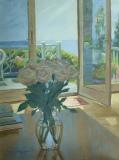 """Mary Anne Miller, """"Beach House View"""", oil, 16x12, $1,400"""
