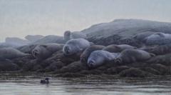 """Sean Murtha, """"Hauled Out"""", oil, 20x36, $1,800"""