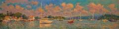 "Leif Nilsson, ""Essex Morning"", oil, 12x48, $9,000"