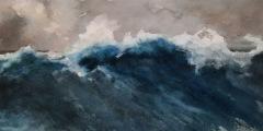 """Debra Paulson, """"The Scend"""", watercolor, 6x11, $480"""