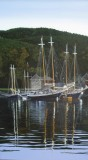 """Jeffrey Sabol, """"Camden Harbor"""", acrylic, 48x30, $4,800"""