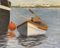 """Nick Salerno, """"Whaleboat"""", acrylic, 11x14, $350"""