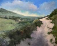 """Lorraine Skelskey-Chapin, """"Stairway to Heaven (Truro)"""", oil, 26x36, $1,900"""