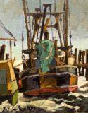"""Bill Sonstrom, """"Sun and Wind"""", oil, 10x8, $450"""