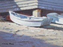 """Caleb Stone, """"Island Skiff"""", oil, 12x16, $1,600"""