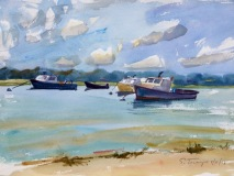 "Susan Termyn, ""Day's End, Nauset"", watercolor, 15x20, $1,200"