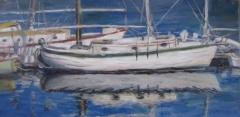 """Beverly Tinklenberg, """"At Rest"""", oil, 6x12, $250"""