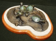 "Susan VanWinkle, ""Perseverance"", bronze, $3,100"