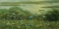 """Cean Youngs, """"Autumn Inlet"""", pastel, 15x30, $6,500"""