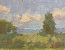 "Jane Zisk, ""Harkness Park"", oil, 6x8, $275"
