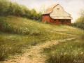 Patt Baldino	, <i>	Path to The Barn	</i>, 	oil	,	$1,200
